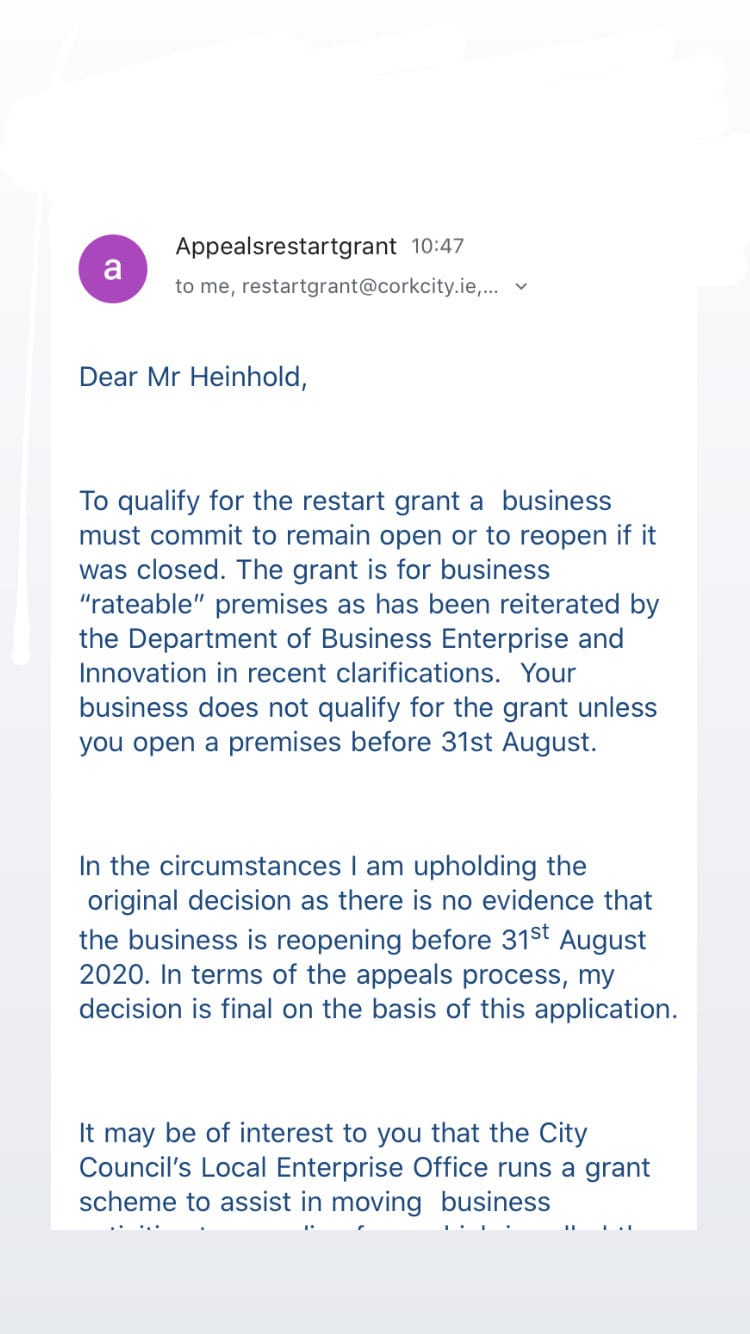 appeal rejection